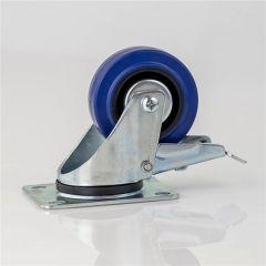 80mm Braked Blue Wheel Castor W0985/80