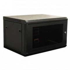 """Wall Mountable 19"""" Rack Cabinets with Perforated Steel Door 450 deep"""