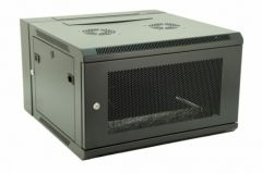 """Double Section Wall Mountable 19"""" Rack Cabinets with Perforated Door"""