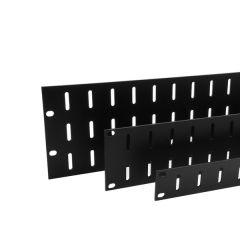 Aluminium Flat Slotted Vent Rack Panels (Black)