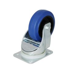 "4"" Blue Wheeled Swivel Self Centering Castor"